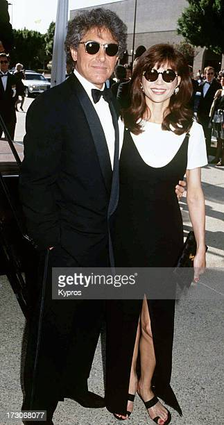 Actress Victoria Principal with her husband plastic surgeon Harry Glassman at the 44th Annual Emmy Awards USA 20th August 1992