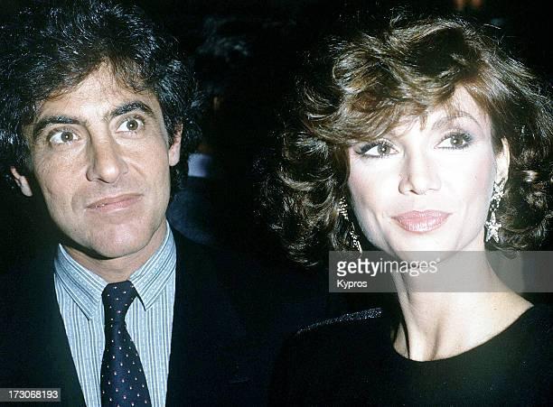 Actress Victoria Principal with her husband plastic surgeon Harry Glassman circa 1990