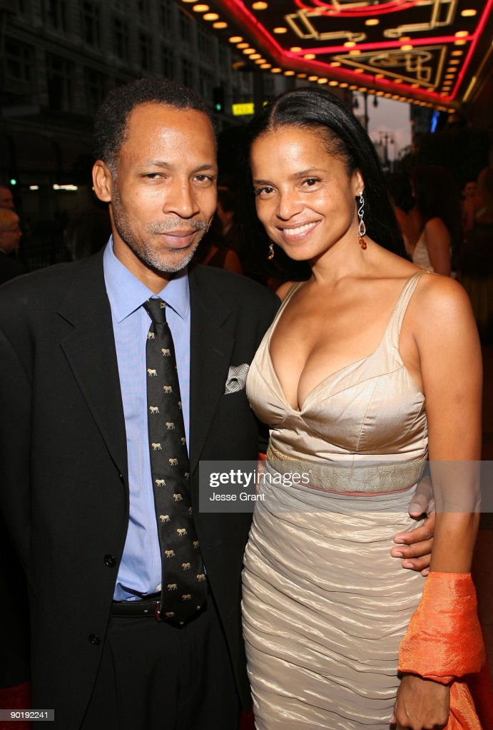 Actress Victoria Rowell (R) and husband Radcliffe Bailey attend the 36th Annual Daytime Emmy Awards after party on August 30, 2009 in Los Angeles, California.