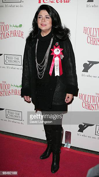 Actress Victoria Ruffo arrives for the 2009 Hollywood Christmas Parade at The Roosevelt Hotel on November 29 2009 in Hollywood California