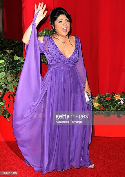 Actress Victoria Ruffo attends the 2008 Billboard Latin Music Awards at the Seminole Hard Rock Hotel and Casino on April 10 2008 in Hollywood Florida