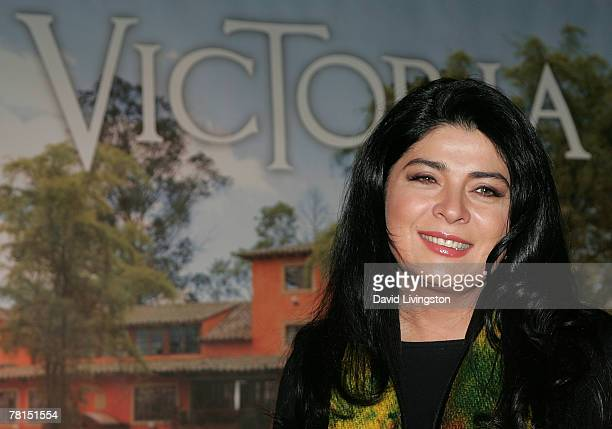 Actress Victoria Ruffo attends the launch of Telemundo's 'Victoria' at the Beverly Wilshire Hotel November 29 2007 in Beverly Hills California