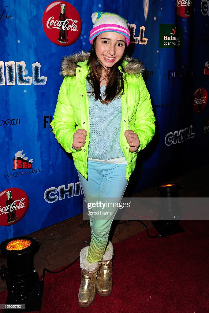 Actress Victoria Strauss arrives at the CHILL-OUT closing night concert at The Queen Mary on January 6, 2013 in Long Beach, California.