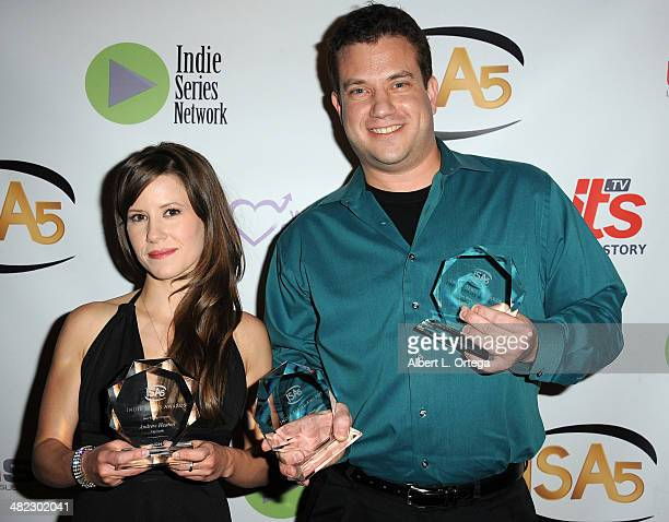 Actress Victoria Sullivan and writer Andrew Heaton from 'Cap South' attend 5th Annual Indie Series Awards held at El Portal Theatre on April 2 2014...