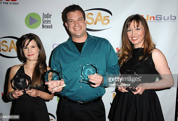 Actress Victoria Sullivan writer Andrew Heaton and writer Lisa Gifford attend 5th Annual Indie Series Awards held at El Portal Theatre on April 2...