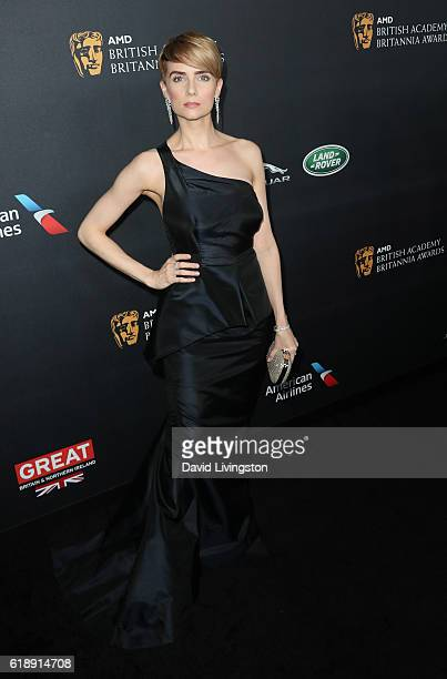 Actress Victoria Summer arrives at the 2016 AMD British Academy Britannia Awards presented by Jaguar Land Rover and American Airlines at The Beverly...