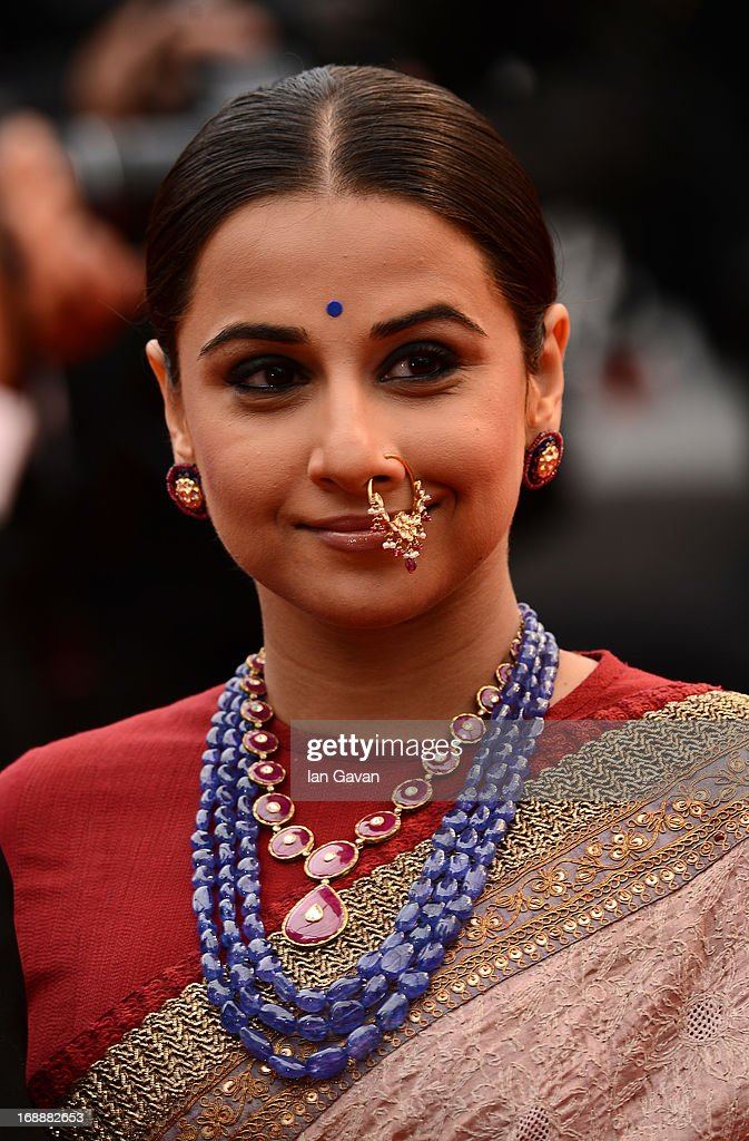 Actress <a gi-track='captionPersonalityLinkClicked' href=/galleries/search?phrase=Vidya+Balan&family=editorial&specificpeople=563348 ng-click='$event.stopPropagation()'>Vidya Balan</a> attends the 'Jeune & Jolie' premiere during The 66th Annual Cannes Film Festival at the Palais des Festivals on May 16, 2013 in Cannes, France.