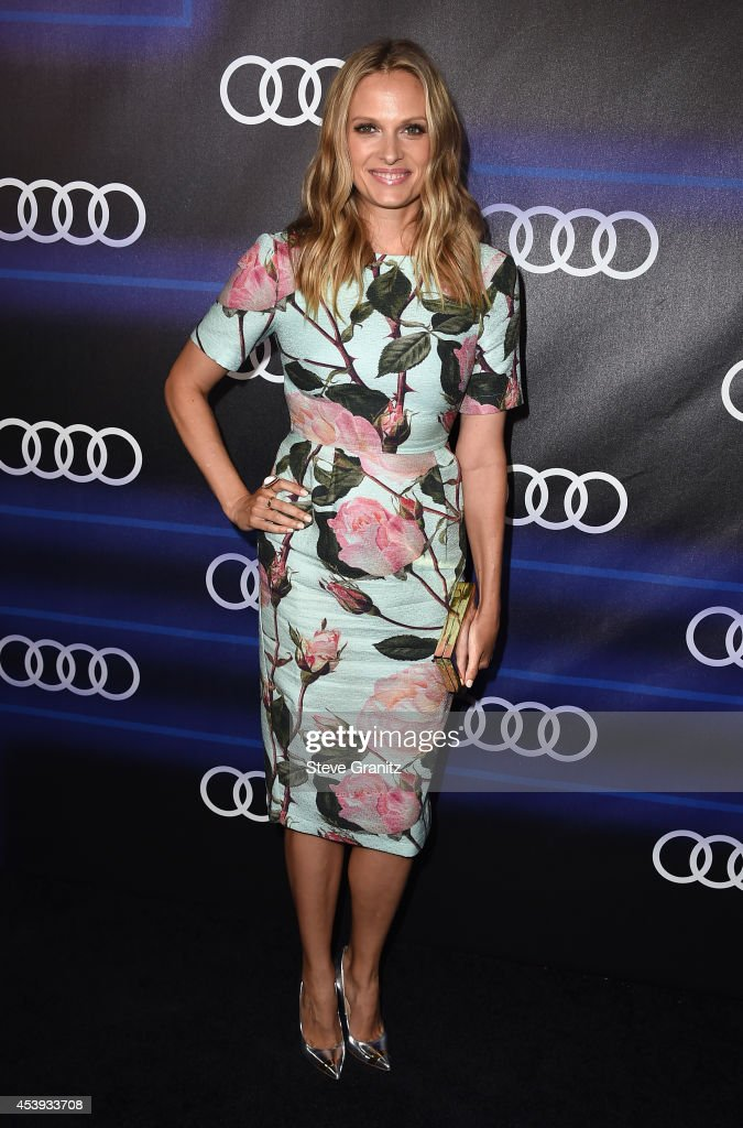 Actress <a gi-track='captionPersonalityLinkClicked' href=/galleries/search?phrase=Vinessa+Shaw&family=editorial&specificpeople=834769 ng-click='$event.stopPropagation()'>Vinessa Shaw</a> attends Audi Emmy Week Celebration at Cecconi's Restaurant on August 21, 2014 in Los Angeles, California.