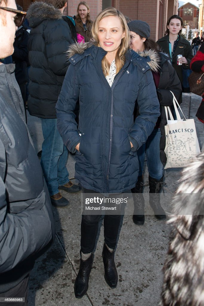 Actress <a gi-track='captionPersonalityLinkClicked' href=/galleries/search?phrase=Vinessa+Shaw&family=editorial&specificpeople=834769 ng-click='$event.stopPropagation()'>Vinessa Shaw</a> attends Oakley Learn To Ride With AOL at Sundance on January 18, 2014 in Park City, Utah.