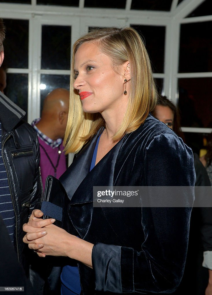 """Actress Vinessa Shaw attends Vanity Fair and Juicy Couture's Celebration of the 2013 """"Vanities"""" Calendar hosted by Vanity Fair West Coast Editor Krista Smith and actress Olivia Munn in support of the Regional Food Bank of Oklahoma, a member of Feeding America, at the Chateau Marmont on February 18, 2013 in Los Angeles, California."""