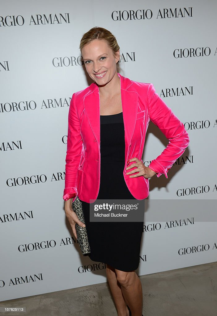 Actress Vinessa Shaw, wearing Emporio Armani attends the Giorgio Armani Beauty Luncheon on December 6, 2012 in Beverly Hills, California.