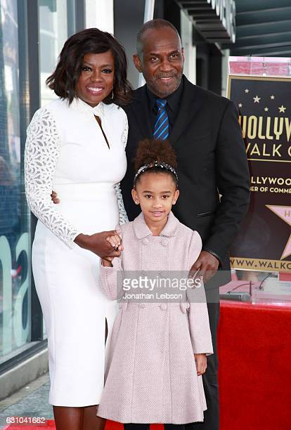 Actress Viola Davis actor Julius Tennon and Genesis Tennon attend the Viola Davis Walk Of Fame Ceremony at Hollywood Walk Of Fame on January 5 2017...