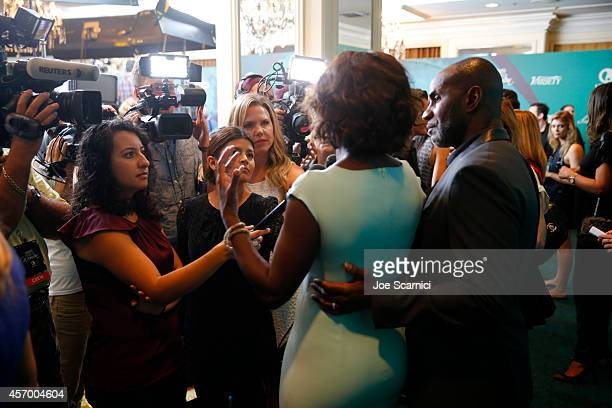 Actress Viola Davis and actor Julius Tennon attend the 2014 Variety Power of Women presented by Lifetime at Beverly Wilshire Four Seasons on October...