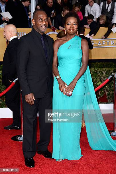Actress Viola Davis and husband Julius Tennon arrive at the 19th Annual Screen Actors Guild Awards held at The Shrine Auditorium on January 27 2013...