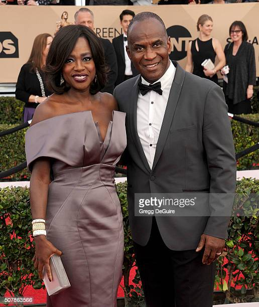 Actress Viola Davis and husband Julius Tennon arrive at the 22nd Annual Screen Actors Guild Awards at The Shrine Auditorium on January 30 2016 in Los...