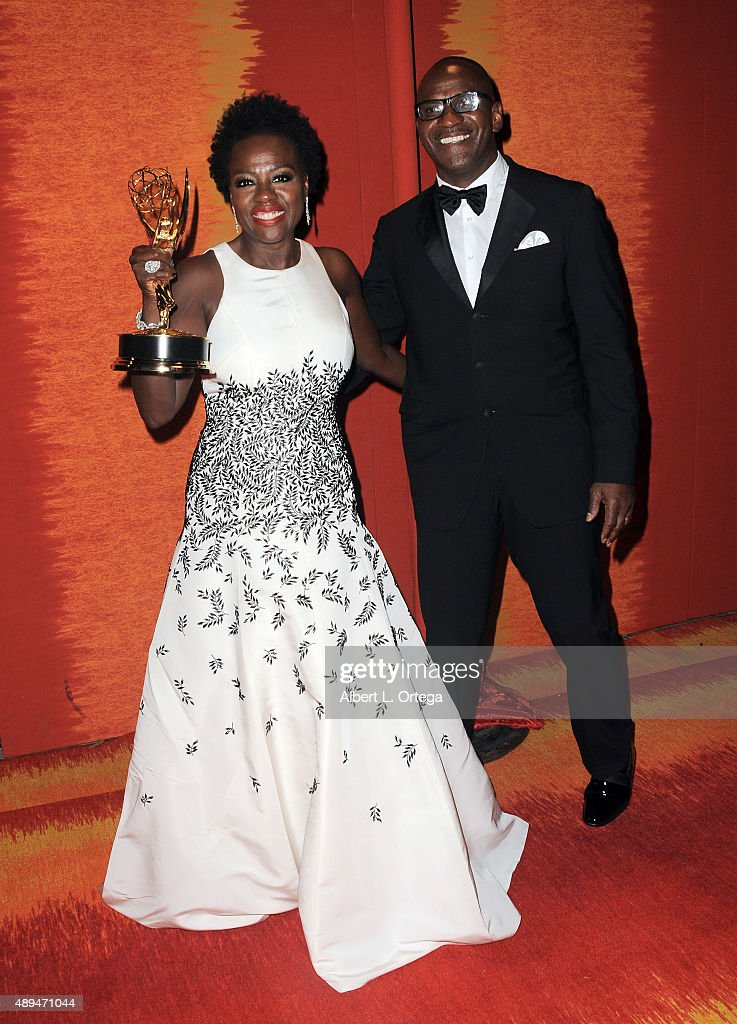 Actress Viola Davis and husband Julius Tennon arrive for the HBO's Official 2015 Emmy After Party held at The Plaza at the Pacific Design Center on September 20, 2015 in Los Angeles, California.