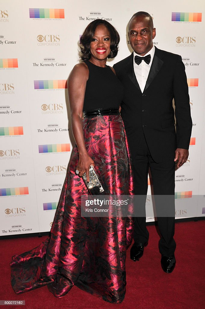 Actress Viola Davis and Julius Tennon arrive at the 38th Annual Kennedy Center Honors Gala at the Kennedy Center for the Performing Arts on December 6, 2015 in Washington, DC.