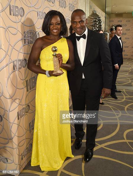 Actress Viola Davis and Julius Tennon attend HBO's Official Golden Globe Awards After Party at Circa 55 Restaurant on January 8 2017 in Beverly Hills...