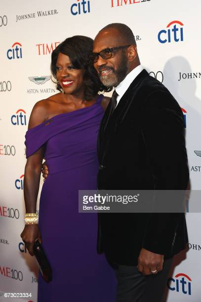 Actress Viola Davis and Julius Tennon attend the 2017 Time 100 Gala at Jazz at Lincoln Center on April 25 2017 in New York City