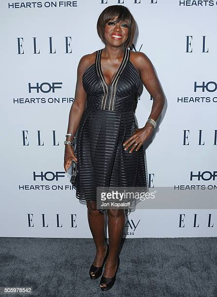 Actress Viola Davis arrives at ELLE's 6th Annual Women In Television Dinner at Sunset Tower Hotel on January 20 2016 in West Hollywood California