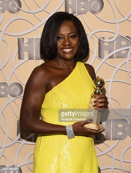 Actress Viola Davis arrives at HBO's Official Golden Globe Awards After Party at Circa 55 Restaurant on January 8 2017 in Los Angeles California