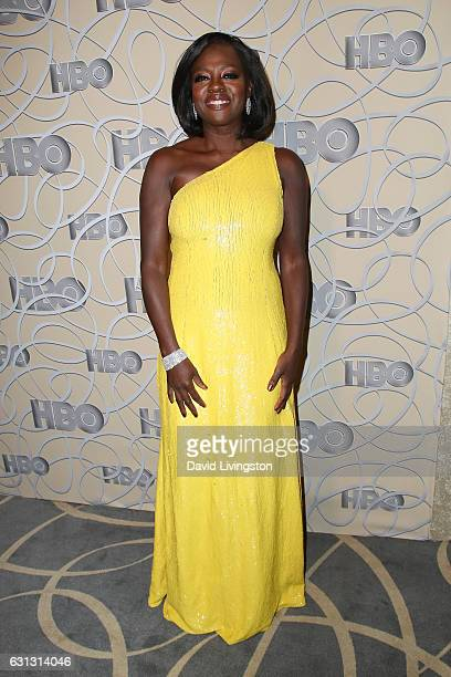 Actress Viola Davis arrives at HBO's Official Golden Globe Awards after party at the Circa 55 Restaurant on January 8 2017 in Los Angeles California