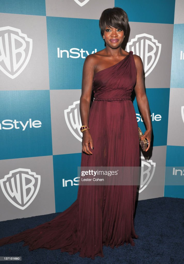 Actress Viola Davis arrives at the 13th Annual Warner Bros and InStyle Golden Globe After Party held at The Beverly Hilton hotel on January 15 2012...
