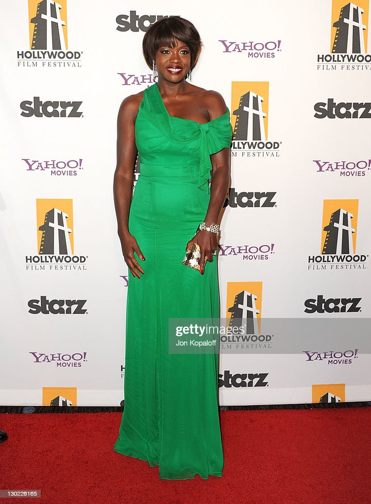 Actress Viola Davis arrives at the 15th Annual Hollywood Film Awards Gala at The Beverly Hilton hotel on October 24, 2011 in Beverly Hills, California.