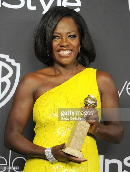 Actress Viola Davis arrives at the 18th Annual PostGolden Globes Party hosted by Warner Bros Pictures and InStyle at The Beverly Hilton Hotel on...