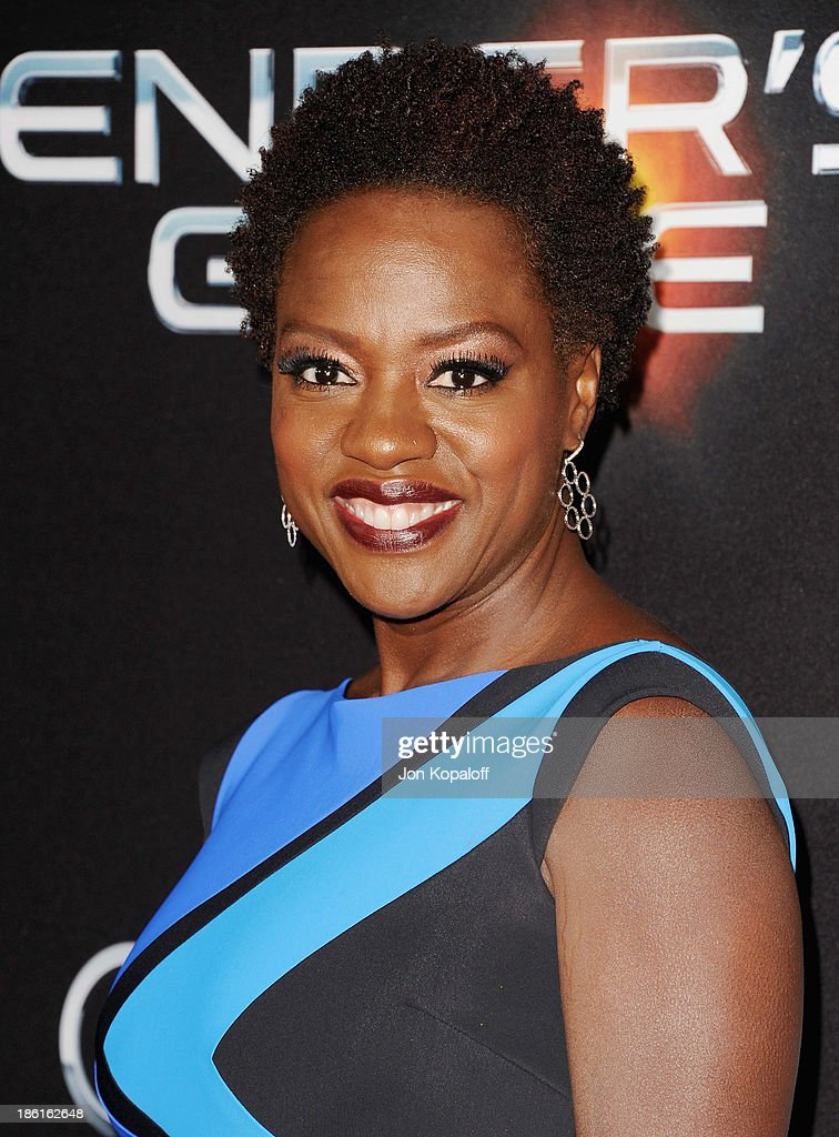 Actress Viola Davis arrives at the Los Angeles Premiere 'Ender's Game' at TCL Chinese Theatre on October 28 2013 in Hollywood California