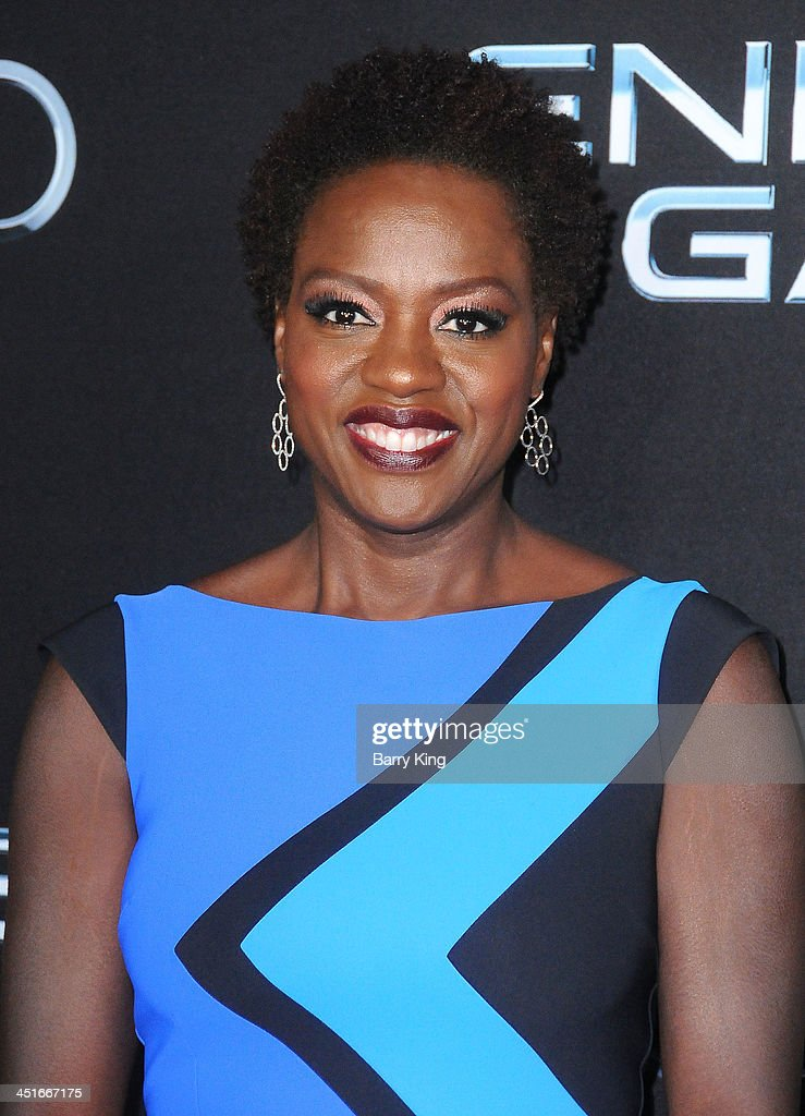 Actress Viola Davis arrives at the Los Angeles Premiere 'Ender's Game' on October 28, 2013 at TCL Chinese Theatre in Hollywood, California.