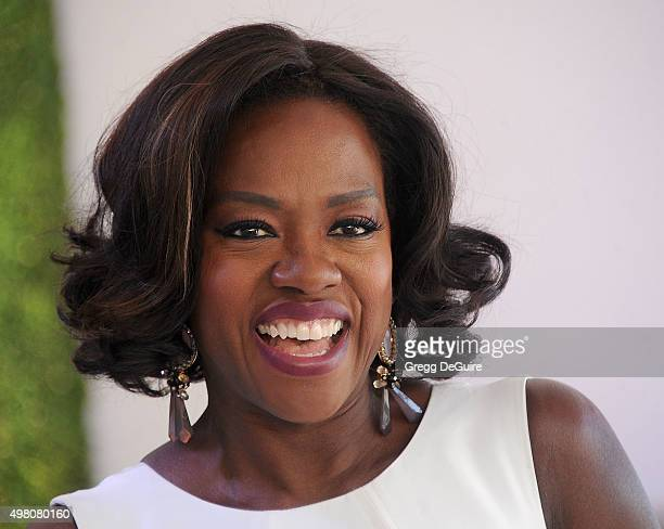 Actress Viola Davis arrives at the WWD And Variety Inaugural Stylemakers' Event at Smashbox Studios on November 19 2015 in Culver City California