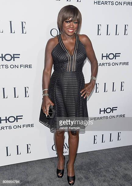 Actress Viola Davis attends ELLE's 6th Annual Women In Television Dinner at Sunset Tower Hotel on January 20 2016 in West Hollywood California