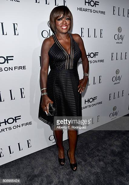 Actress Viola Davis attends ELLE's 6th Annual Women in Television Dinner Presented by Hearts on Fire Diamonds and Olay at Sunset Tower on January 20...