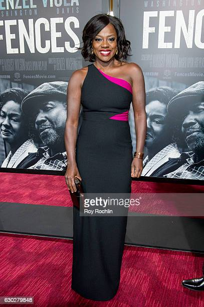 Actress Viola Davis attends 'Fences' New York Screening at Rose Theater Jazz at Lincoln Center on December 19 2016 in New York City