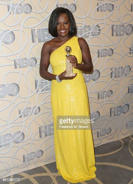 Actress Viola Davis attends HBO's Official Golden Globe Awards After Party at Circa 55 Restaurant on January 8 2017 in Beverly Hills California