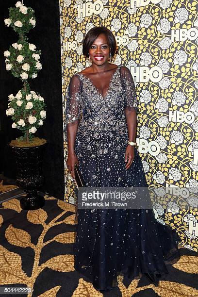 Actress Viola Davis attends HBO's Post 2016 Golden Globe Awards Party at Circa 55 Restaurant on January 10 2016 in Los Angeles California