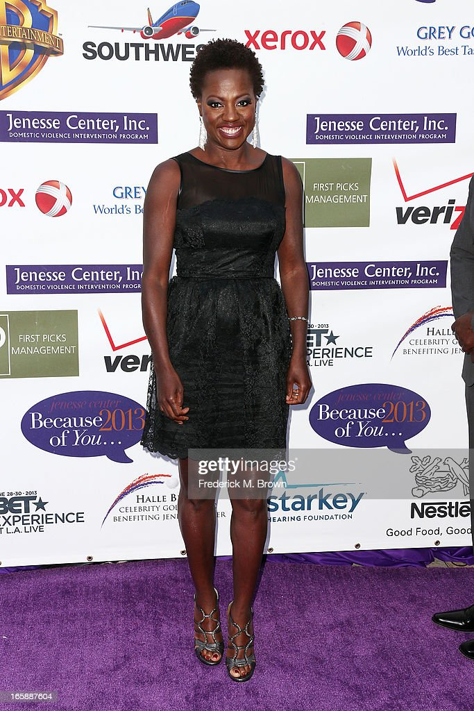Actress <a gi-track='captionPersonalityLinkClicked' href=/galleries/search?phrase=Viola+Davis&family=editorial&specificpeople=653789 ng-click='$event.stopPropagation()'>Viola Davis</a> attends the 2013 Jenesse Silver Rose Awards Gala and Auction at Vibiana on April 6, 2013 in Los Angeles, California.