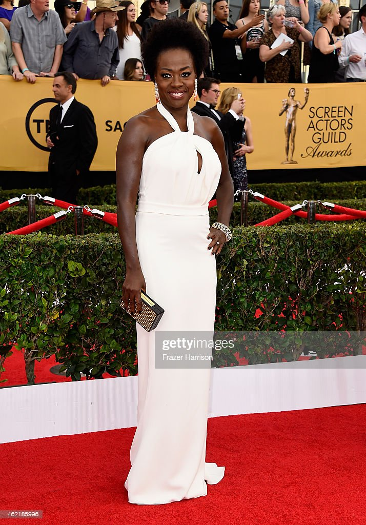 Actress Viola Davis attends the 21st Annual Screen Actors Guild Awards at The Shrine Auditorium on January 25 2015 in Los Angeles California