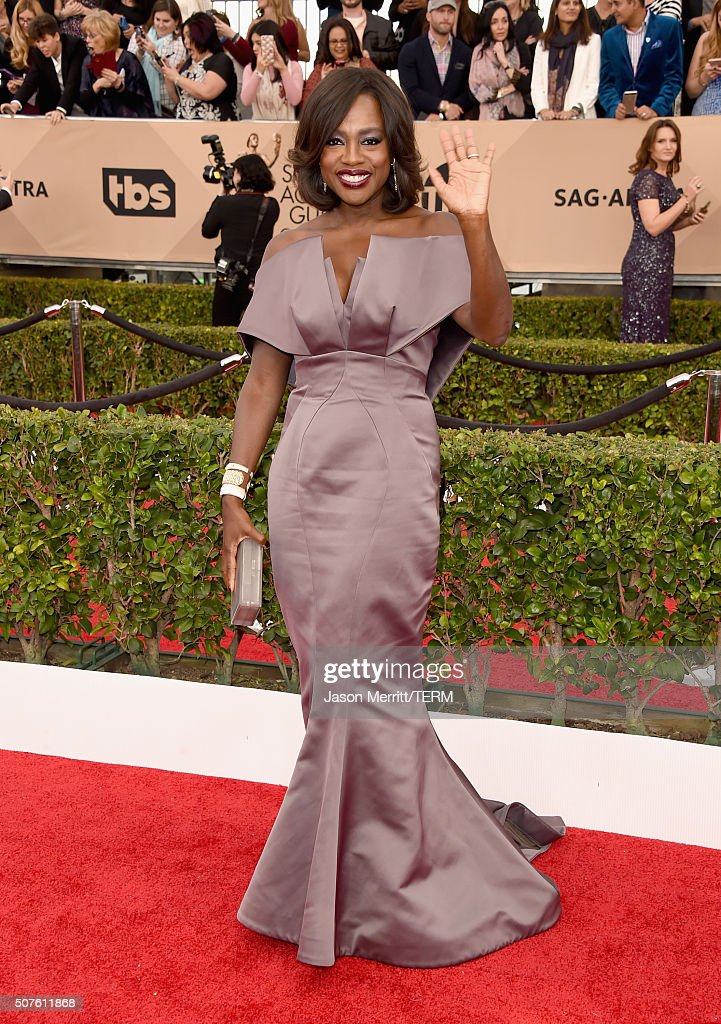 Actress Viola Davis attends The 22nd Annual Screen Actors Guild Awards at The Shrine Auditorium on January 30 2016 in Los Angeles California 25650_015