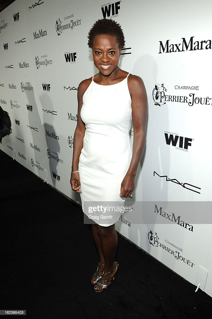 Actress <a gi-track='captionPersonalityLinkClicked' href=/galleries/search?phrase=Viola+Davis&family=editorial&specificpeople=653789 ng-click='$event.stopPropagation()'>Viola Davis</a> attends the 6th Annual Women In Film Pre-Oscar Party hosted by Perrier Jouet, MAC Cosmetics and MaxMara at Fig & Olive on February 22, 2013 in Los Angeles, California.