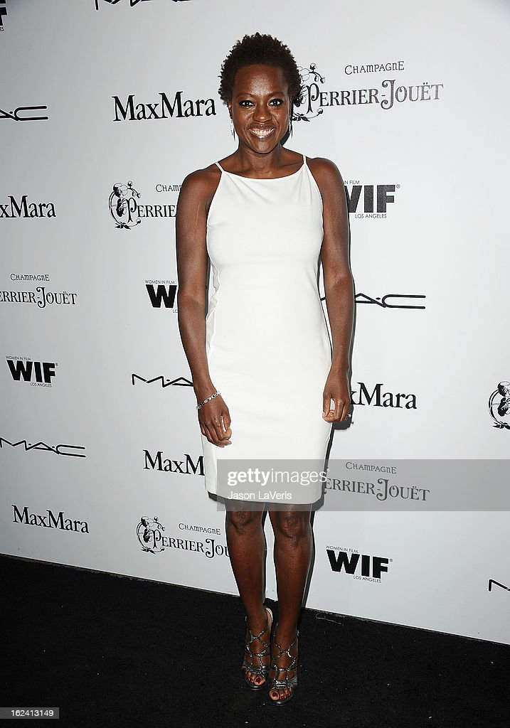 Actress Viola Davis attends the 6th annual Women In Film pre-Oscar cocktail party at Fig & Olive Melrose Place on February 22, 2013 in West Hollywood, California.