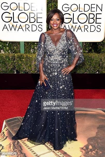 Actress Viola Davis attends the 73rd Annual Golden Globe Awards held at the Beverly Hilton Hotel on January 10 2016 in Beverly Hills California