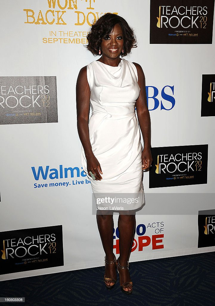 Actress Viola Davis attends the 'Teachers Rock' benefit at Nokia Theatre L.A. Live on August 14, 2012 in Los Angeles, California.