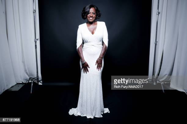 Actress Viola Davis poses for a portrait during the 2017 American Music Awards at Microsoft Theater November 19 2017 in Los Angeles California