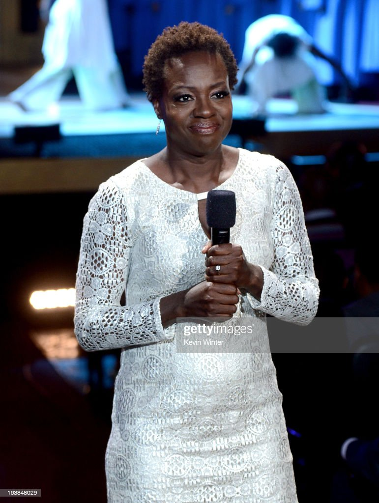 Actress Viola Davis speaks onstage during the BET Celebration of Gospel 2013 at Orpheum Theatre on March 16, 2013 in Los Angeles, California.