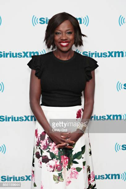 Actress Viola Davis visits the SiriusXM Studios on September 28 2017 in New York City