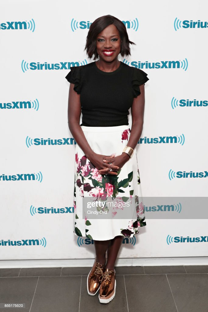 Actress Viola Davis visits the SiriusXM Studios on September 28, 2017 in New York City.