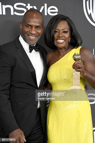 Actress Viola Davis winner of Best Supporting Actress in a Motion Picture for 'Fences' and Julius Tennon attend the 18th Annual PostGolden Globes...