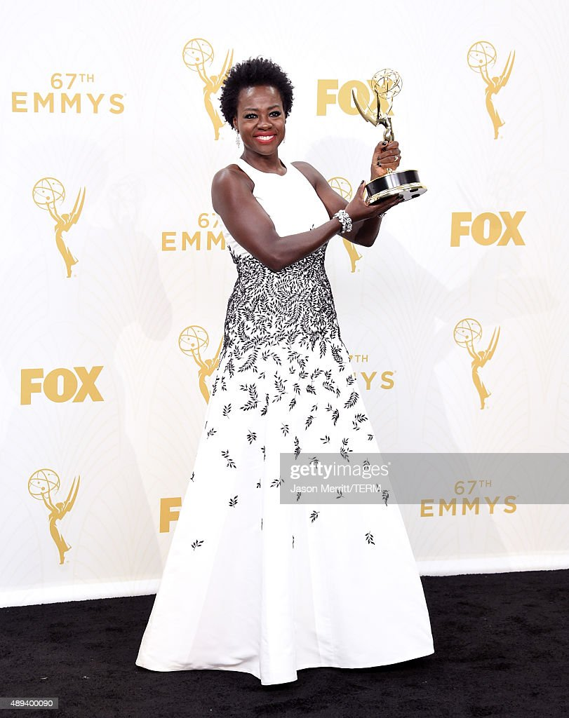 Actress Viola Davis, Winner Of Outstanding Lead Actress In A Drama Series  For 'how
